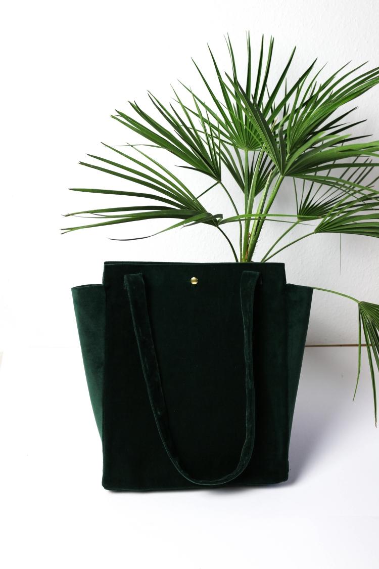 DIY Velvet Tasche Samt4