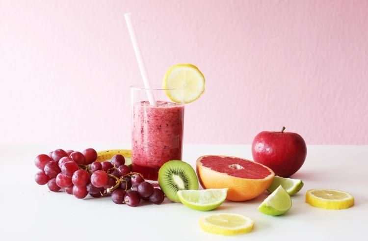 Obst Früchte Smoothie vegan